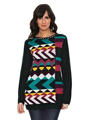 Janis Jersey Estampado Geométrico (Multicolor)