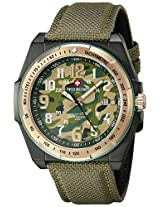Swiss Military by R Men's 50505 37NR V Commando Analog Display Swiss Quartz Green Watch