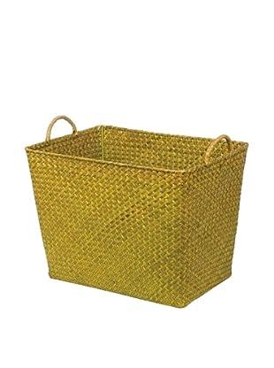 Skalny Rectangular Seagrass Storage Basket, Green