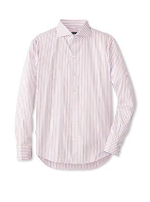 Zachary Prell Men's Spencer Striped Long Sleeve Shirt (Blue/Pink)