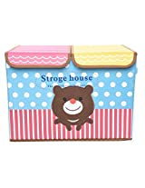 Foldable Storage Box Bear House With Partition