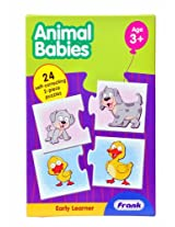 early learner-animal babies (24 self-correcting, 2 piece puzzles)
