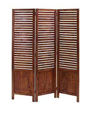 3-Panel Screen, Brown