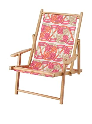 Julie Brown Reversible Beach Chair, Pink Voyage/Pink Skipper
