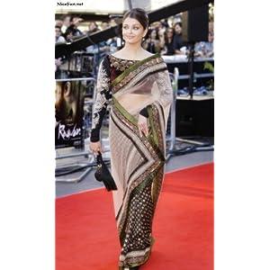 Aishwarya Rai Ravan Premier Black Net Saree