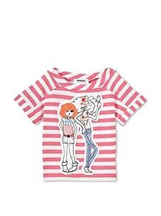 Sonia Rykiel Girl's Striped Patch Tee (Pink/White)