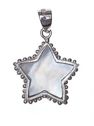 Yanes Colgante Nácar Plata Estrella