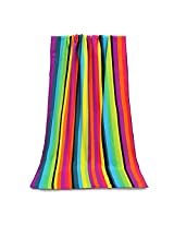 100x180cm Stripe Print Absorbent Microfiber Beach Towels Quick Dry Bath Towel