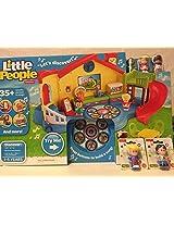 Fisher-Price Little People Musical Preschool Playset AND Little People Artist AND Little People Eddi