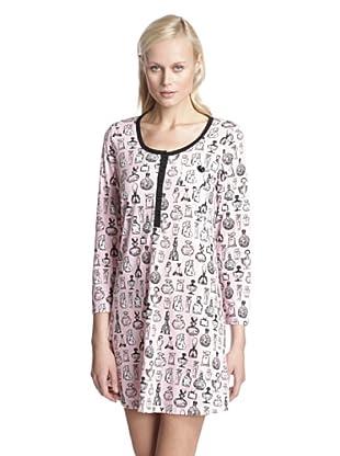 BH PJ's by BedHead Pajamas Women's Placket Nightshirt (Vintage Perfume Pink)