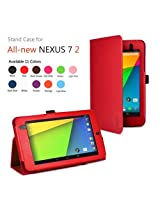 Exact Folio Case for Google Nexus 7 FHD 2nd Gen 2013 Android Tablet by Asus Red