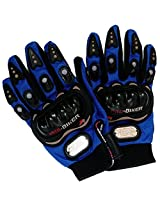 P-Biker Motorcycle Riding Gloves Blue Colour Biking & Racing M