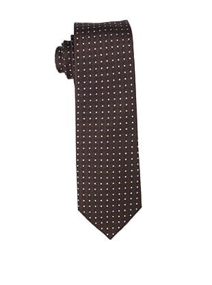 Yves Saint Laurent Men's Dot Block Tie, Brown/Blue