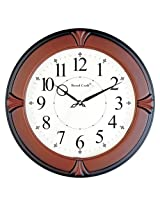 WOOD CRAFT ws-1126a sweep wall clock (wood case - white dial) size- 33 O c.m.
