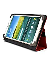 Kroo Universal Multi Fit 6 to 8 Inch Tablet Folio Case, Red (MU08EXR1-8351)