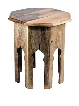 Jamie Young Round Wooden Stool, Natural