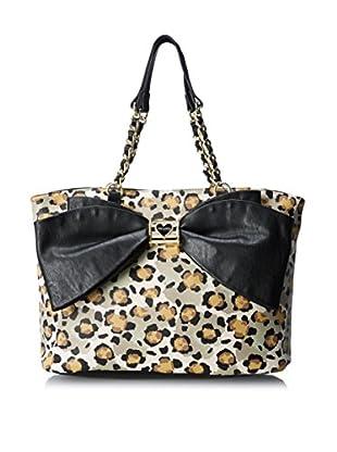 Betsey Johnson Women's Bow Lovely Tote, Leopard