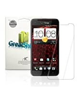 GreatShield Ultra Smooth (HD) Clear Screen Protector Film for Verizon HTC Droid DNA (3 Pack) - LIFETIME WARRANTY