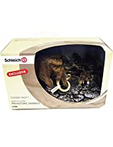 Schleich Smilodon and Mammoth Scenery Pack