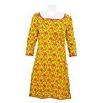 Cotton Curio Women's Traditional Kurti_M - (11003345_M_Yellow)