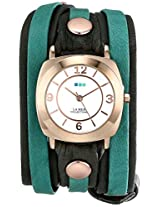 La Mer Collections Women's LMDYLY1001 Neon Odyssey Rose Gold Watch with Wraparound Two-Tone Leather Band