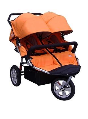 Tike Tech City X3 Swivel Double Stroller with Bonus Rain Cover, Orange