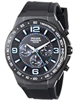 Pulsar Black Rubber Chronograph Mens Watch Pt3405