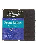 """Diane Rollers Foam 5/8"""" Black 14s"""