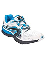 KALENJI EKIDEN INDOOR WELLNESS RUNNING SHOES - WHITE BLUE (39)