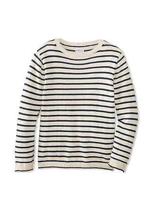GANT Rugger Men's Breton Split Crue Knit Shirt (Cream)