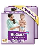 Huggies Wonder Pants M-60 (7 To 12 Kg) Pack Of 2