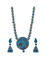 Avarna Terracotta Necklace Set Nsa0027 For Women (Multi-Color )