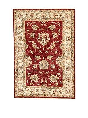 L'Eden del Tappeto Teppich Zeigler rot/beige 140t x t97 cm