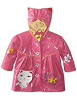 Kidorable Little Girls' Lucky Cat All Weather Waterproof Coat