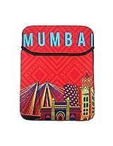Mumbai Cityscape Orange Ipad Sleeve