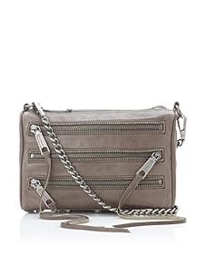Rebecca Minkoff Women's Carmen Mini Zip Shoulder Bag, Cement