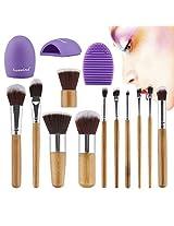 Huewind 11pcs Synthetic Kabuki Makeup Brush Set Cosmetics Foundation Blending Blush Eyeliner Face Powder Brush Makeup Brush Kit