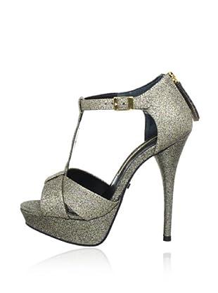 Buffalo London 21535-642 GLITTER TEC 129036 - Zapatos de pulsera  mujer (Dorado)