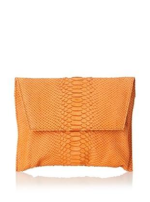 Emily Cho Women's Envelope Clutch, Orange