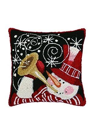 Peking Handicraft Snowman with Horn Throw Pillow, Multi