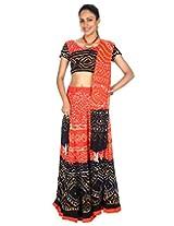 Rajrang Womens Cotton Orange Long Lehenga Cholis