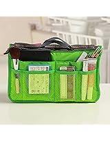 1PC Multifunctional Small Handbag Travel Storage Bag Cosmetic Bag & Case Toiletry Bag Cosmetic Organizer Storage Bag Pouch Pocket(Colour: (Green)