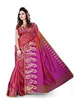 Asavari Magenta Cotton Net Banarasi Saree