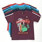 1ly Shirts Boys' Half Sleeve T-Shirt (8906067160034_Multi-Coloured_3-4 Years)