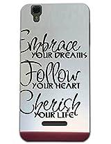 Kaira Brand Designer White case cover For Micromax Yu Yureka(Dream)