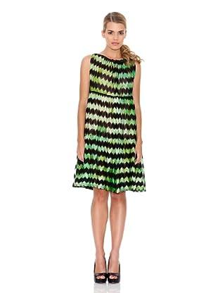 Monoplaza Vestido Zig-Zag (Verde)