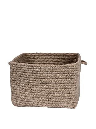 Colonial Mills Chunky Natural Wool Basket, (Medium Brown)