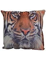 Twisha Tiger Printed Pillow 12 X 12 X 4 Inch