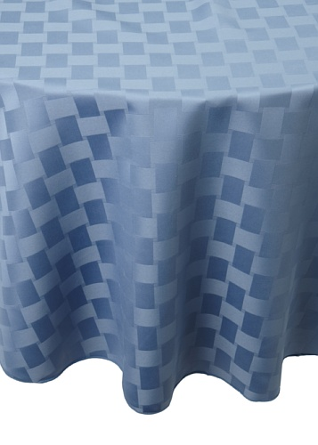 Bardwil Reflections Round Tablecloth (Stone Blue)