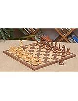 Chessbazaar Combo Of Fierce Knight Sheesham Chess Pieces & Walnut Maple Board